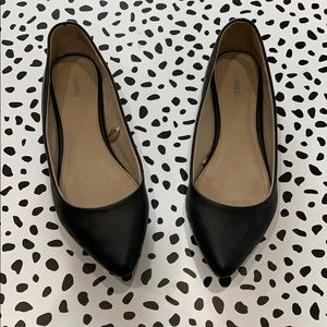 Express Black Pointy Toe Flats